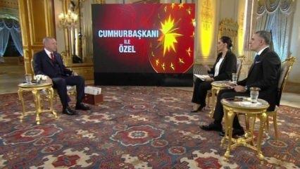 Cumhurbaşkanı Erdoğan canlı yayında soruları yanıtladı