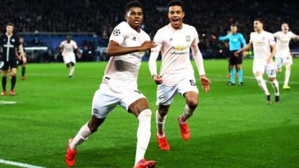 Manchester United Paris'te tarih yazdı!