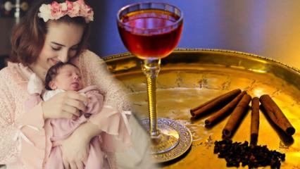 Enfes Osmanlı Lohusa şerbeti nasıl yapılır? Doğum için evde pratik şerbet tarifi