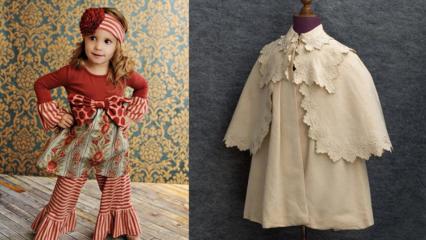Vintage çocuk kıyafet modelleri