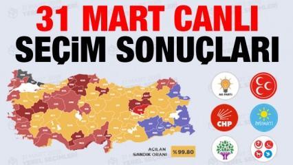 31 Mart seçim sonuçları açıklandı! İşte il ve ilçe yerel seçim sonuçları