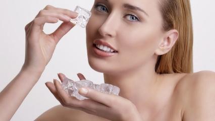 Buz yüze nasıl uygulanır ve cilde faydaları neler? Buzun sivilceye faydası! Buz maskesi