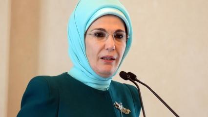 Emine Erdoğan Dünya Ekonomik Forumu'nda konuştu