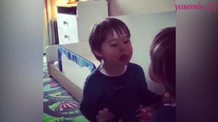 Özgün ve oğlu Ediz'ten 'Arkadaşım Eşşek' performansı