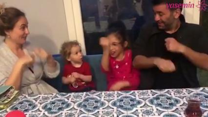Ceyda Düvenci ve Bülent Şakrak'ın çocuklarıyla eğlenceli anları