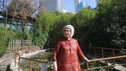 Emine Erdoğan Nezahat Gökyiğit Botanik Bahçesi'nde!