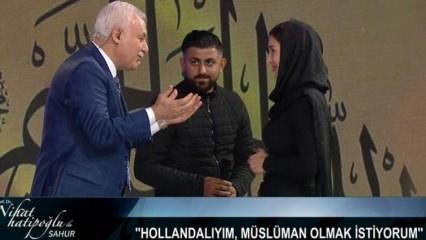 Hollandalı Anna Nihat Hatipoğlu'nun programında Müslüman oldu!