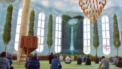 'Cenneti' andıran Hamidiye Cami nerede? Hamidiye Cami içi fotoğrafları