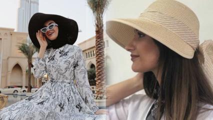 2019 yaz sezonu plaj şapkası modelleri