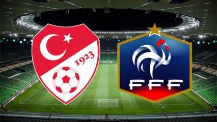 Türkiye Fransa maçı saat kaçta ve hangi kanalda?