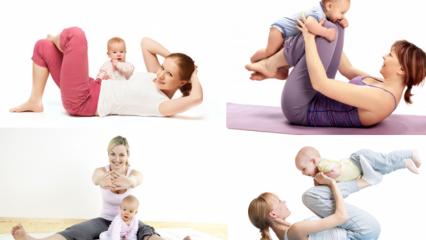 Doğum sonrası hangi egzersizler yapılmalı? Karın sıkılaştıran hareketler