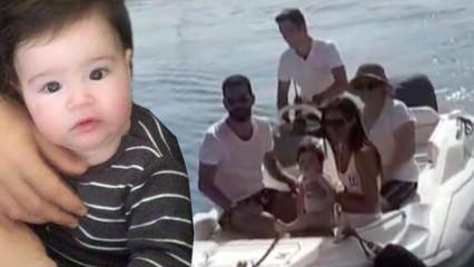 Arda Turan oğlu ile ilk tatilini Marmaris'te gerçekleştirdi!