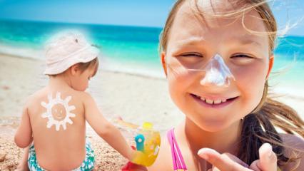 Güneş koruyucu krem nasıl seçilir? Çocuklarda güneş çarpması ve önlemleri