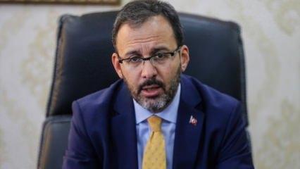 Bakan Kasapoğlu'dan Nihat Özdemir'e 'Geçmiş olsun' telefonu
