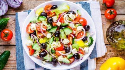 Zayıflamak için salata diyeti listesi! Düşük kalorili doyurucu salata tarifleri