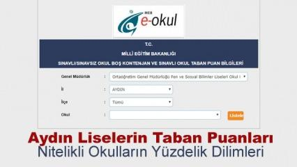 2019 Aydın liseleri kontenjan ve taban puanları! LGS yüzdelik dilimleri..