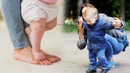 Bebekler nasıl kolay yürütülür? Bebekler neden geç yürür? Bebeklerde yürüme belirtileri