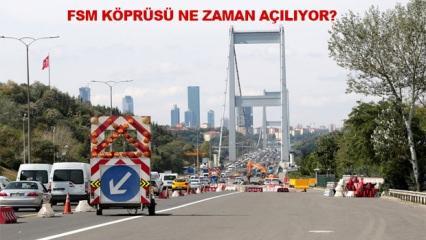 FSM köprüsü çalışmaları ne zaman bitecek? İstanbul'da yoğun trafik saatleri...