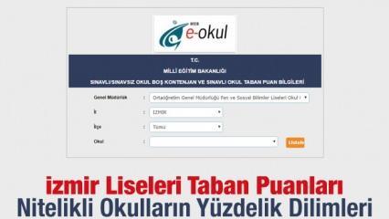 İzmir liseleri kontenjan ve taban puanları! 2019 MEB yüzdelik dilimleri...