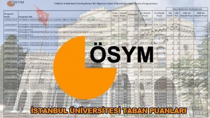 İstanbul Üniversitesi taban - tavan puanları ve başarı sıralaması! (2019-ÖSYM)