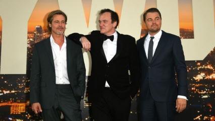 Brad Pitt ve Leonardo DiCapiro filminin galasında neler oldu?