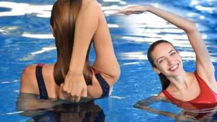 3 hareketle fit karın! Suda yapabileceğiniz en etkili karın hareketleri