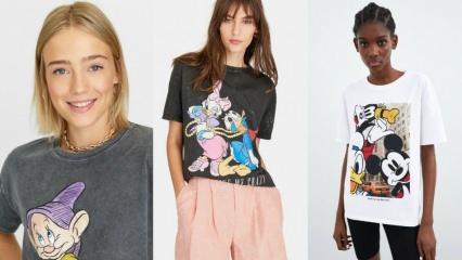 Disney karakterlerinin renkliliğini yansıtan kombin modelleri