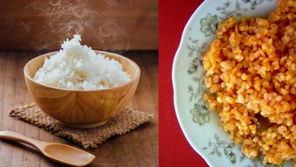 Bulgur mu pirinç mi kilo aldırır? Bulgurun ve pirincin faydaları! Diyet pilav tarifi...