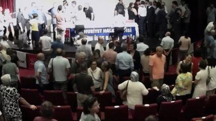 Kaftancıoğlu'nun katıldığı programda CHP'liler birbirine girdi