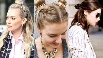 Yazın en güzel saç bağlama modelleri hangisi? En pratik saç bağlama önerileri