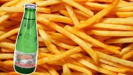 Çıtır çıtır patates kızartması nasıl yapılır? Patatesi soda ile kızartırsanız...