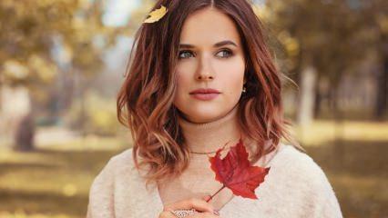 Sezonun renkleri ile sonbahar makyaj nasıl yapılır? Adım adım sonbahar makyajı..