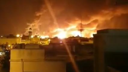 Suudi Arabistan'ı gece vurdular! Hava saldırısında korkunç görüntüler