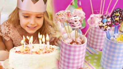 A'dan Z'ye evde doğum günü partisi fikirleri! Doğum günü partisi nasıl yapılır? Yaş pasta tarifi