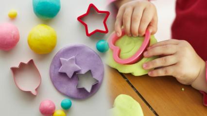 Nişastadan kurumayan oyun hamuru tarifi! Eğlenceli hamur oyunları ve şekilleri