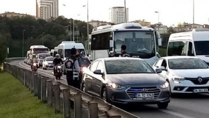 İstanbul'da çakarlı araç denetimi