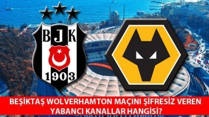 Beşiktaş Wolverhampton maçı şifresiz izleme: BJK Wolverhampton maçını veren yabancı kanallar!