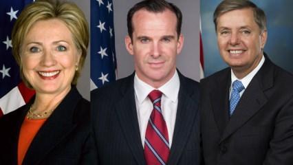 Fırat'ın doğusu kararı sonrası Clinton, Graham, ve McGurk çıldırdı
