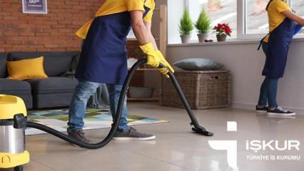 İŞKUR'dan temizlik görevlisi alımı sona eriyor! İlkokul mezunu başvuru..