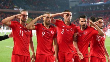Milli Takım'dan Mehmetçik'e selam!