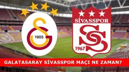 Galatasaray Sivasspor saat kaçta! GS Maçı hangi kanalda!