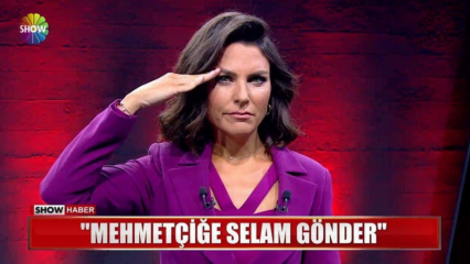 """Ünlü sunucu Ece Üner'den """"Mehmetçik"""" selamı!"""