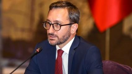 Fahrettin Altun: Terör örgütünün  devletçik projesi tarih olmuştur