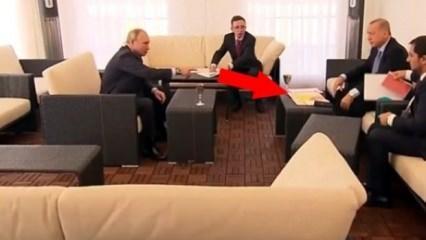 Erdoğan'dan masadaki haritayı kapatmasını isteyen Putin'e yanıt
