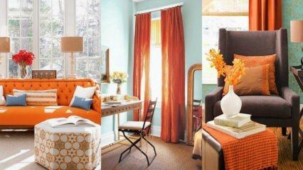 Turuncu ile ev dekorasyon fikirleri
