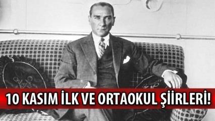 10 Kasım şiirleri! 2020 Atatürk'ü Anma Günü 10 Kasım ilk ve ortaokul uzun kısa şiirler