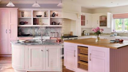 Modern pembe mutfak dekorasyonu önerileri
