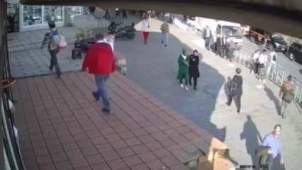 Karaköy'de başörtülü kadına çirkin saldırı!