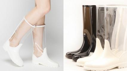 Şeffaf yağmur botu modelleri ve fiyatları