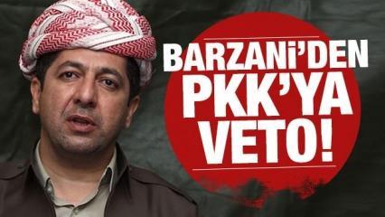 Barzani 'Karşıyız' diyerek PKK'yı üzecek haberi verdi